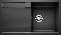 Évier de cuisine Blanco Metra 5 S - Noir - Sous-meuble 50 cm - 860 x 500 x 190 mm - Vidage manuel - Blanco