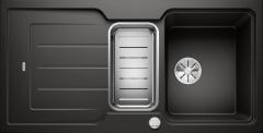 Évier de cuisine Neo 6S - Noir - Sous-meuble 60 cm - 1000 x 510 x 190 mm + Planche en composite - Vidage auto - Blanco