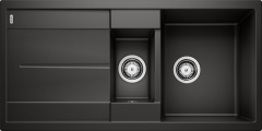 Évier de cuisine Blanco Metra 6 S - Noir - Sous-meuble 60 cm - 1000 x 500 x 190 mm - Vidage manuel - Blanco