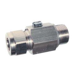 Vanne à sphère équerre laiton chromé pour lavabo CU12-CU10 à commande par tournevis - Ø12, sortie 12 - Sferaco