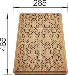 Planche à découper en frêne massif avec éléments décoratifs - Blanco