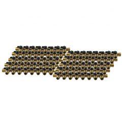 """Lot de 10 Collecteurs mini-vanne M/F 3/4"""" (20/27) - 1/2"""" (15/21) - 8 piquages M 1/2"""" (15/21)"""