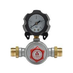 Mano-détendeur haute pression Propane avec manomètre 8kg/h - 0,5 à 3b - M20x150 - Favex