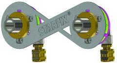 """Sortie de cloison STARFIX 150 PER à compression Ø 12 - M3/4"""" (20/27) coudée réglable - Anquier"""