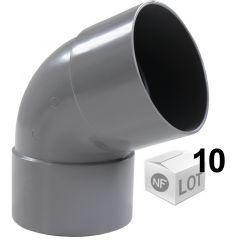 Lot de 10 Coudes PVC 67°30 Femelle/Femelle Ø32 ou Ø40 ou Ø50 ou Ø100mm - First Plast