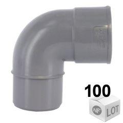 Lot de 100 raccords PVC - Coudes 87°30 MF Ø32 ou Ø40 ou Ø50