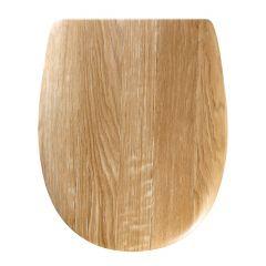 """Abattant wc bois mat """"Angora Wood"""" - descente manuelle"""