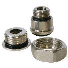 "Adaptateur robinet radiateur multidiamètres 3/8"" (12/17) - 1/2"" (15/21) - Somatherm"