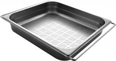 Bac gastronorme en inox perforé + grille - 324x353 mm - Aquatop