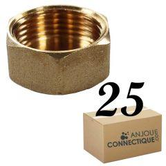 """Lot de 25 Bouchons Laiton Femelle 3/4"""" (20/27) - Arcanaute"""
