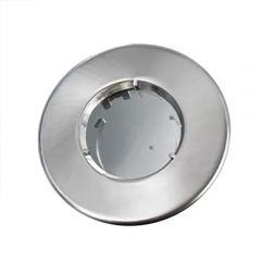 Collerette fixe aluminium brossé IP65 - diamètre 90 - BLM