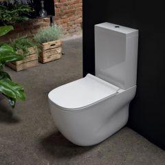 WC monobloc sortie murale Wild avec réservoir et abattant Cristina Ondyna