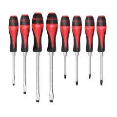 Boîte de 8 tournevis ULTIMATEmax, 5,5 à 10 mm - PH1 - PH2 - PZ1 - PZ2 KS Tools 922.6130