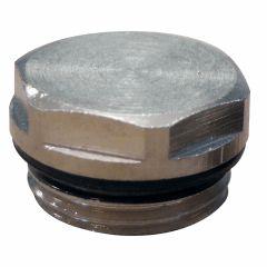 """Bouchon plein 1/2"""" (15/21) pour radiateur acier"""