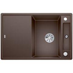 Évier de cuisine Axia III 45S - Café - sous-meuble 45 cm - L 780 x l 510 x P 185 mm + planche en verre - Blanco