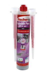 Résine hybride scellement fer à béton FIS HF 300ml - Fischer 520110