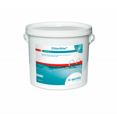 Boîte de 5kg de pastilles Chloriklar pour traitement chlore choc piscine - Bayrol