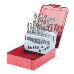 Coffret de 19 forets HSS-G meulés, Ø1,0-10,0 mm KS Tools 330.2610