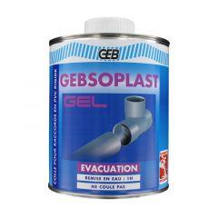 Colle GEBSOPLAST GEL pour raccords PVC évacuation - 1L