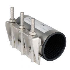 Collier de réparation pour tube rigide Pe-Pvc-Acier-Fonte Ø140/153 - Sferaco