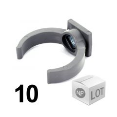 Lot de 10 raccords PVC - Collier lyre à emboîtage Ø32 ou Ø40 ou Ø50 NF ME First Plast