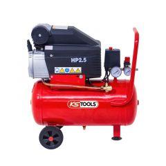 Compresseur d'air 25 litres - 8 bars - 2CV - 230V - KS Tools 165.0702