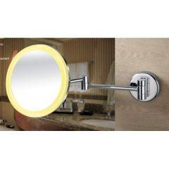 Miroir chromé grossissant x3 avec led - Ondyna SP80351