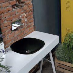 Lavabo céramique Wild 45x45x10 cm Blackmat - Ondyna WWL450913