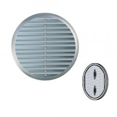 Grille ronde à clipser plastique chromée et cuivrée avec moustiquaire - Ext. Ø175 mm - First Plast