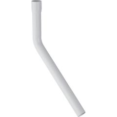 Rallonge de coude de chasse Geberit 45°, 11,5x30cm, avec manchon à emboîter Ø32mm, Blanc alpin