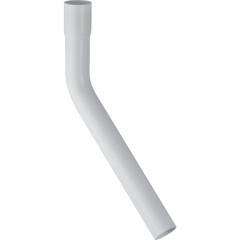 Rallonge de coude de chasse Geberit 45°, 30x10cm, avec manchon à emboîter Ø44mm, Blanc alpin