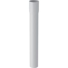 Rallonge de coude de chasse Geberit, droit 50cm, avec manchon à emboîter Ø44mm, Blanc alpin
