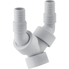 Embout cannelé équerre double G1'' (26/34) pour machine à laver ou lave-vaisselle - Geberit