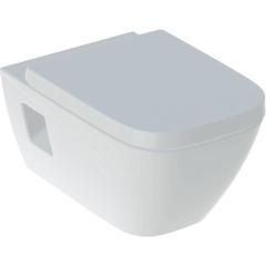 WC suspendu rimfree sans bride RENOVA PLAN semi-caréné avec abattant frein de chute - Geberit
