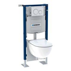 Pack bâti-support Duofix + plaque de déclenchement Sigma20 + WC Renova Compact - Geberit