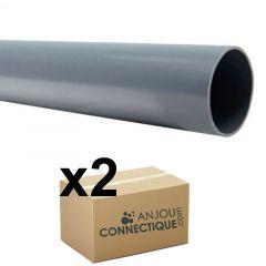 Lot de 2 Tubes PVC évacuation NF-Me lisse - diamètre 32 mm - 4 mètres