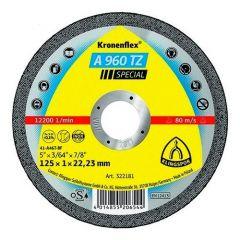 Disque à tronçonner Ø125mm inox - Type A 960 TZ - Klingspor 322181