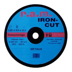 Disque abrasif IRON-CUT diamètre 115 x 1,6mm