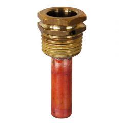 Doigt de gant cuivre sur raccord laiton Thermador