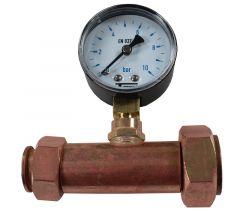 Jaquette prise de pression réseau eau Femelle écrou libre 3/4'' (20/27) - Femelle 1