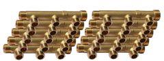 """10 Collecteurs mâle femelle 3/4"""" - 3 départs 1/2"""" (15/21) - Entraxe 50mm - Arcanaute"""
