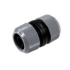 Raccord automatique pour réparer ou rallonger un tuyau d'arrosage