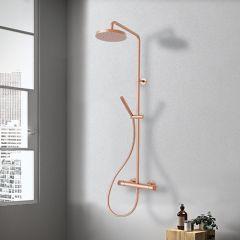 Colonne de douche thermostatique EAST SIDE - or rose brossé - Cristina Ondyna