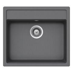 Évier de cuisine Cristalite Gain de Place - 570 x 510 x 180 mm - sous-meuble 60 cm - Coloris Croma - Schock