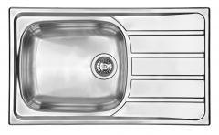 Évier de cuisine Inox lisse Montebello avec grand bac - L 860 x l 500 X P 160 mm - sous-meuble de 60 cm - Aquatop