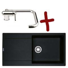 Pack Évier Maris Fragranit 970x500x190 mm + mitigeur Window - Onyx - Une cuve - Sous meuble 60 cm - Franke