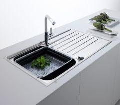 Évier de cuisine Franke ARGOS 211-100 INOX ET MICRODEKOR® - 1000 x 510 x 195 mm - Sous-meuble 60 cm - Franke