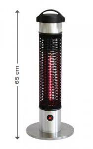 Parasol chauffant électrique de table ASTI en inox brossé