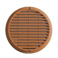 Grille ventilation aluminium anti-choc - Ronde - Ø180mm - Terre cuite