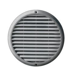 Grille ventilation aluminium anti-choc - Ronde - Ø180mm